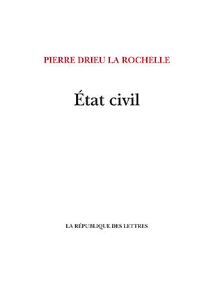 Pierre Drieu la Rochelle État civil